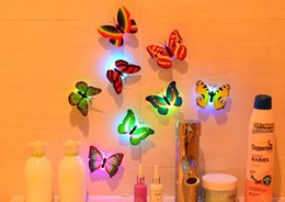 7 Color Changing Butterfly Night LED Lighting Lights Lamp Christmas Party Lights Home Room Decor Halloweenb bar Decoration drop shipping