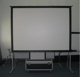 Wholesale Front projection portable Fast fold Projection screen quot inch with aluminum flight case Factory price