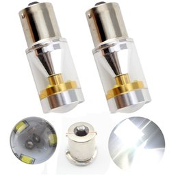 Wholesale 2pcs White High Lumens Super Bright CREE SMD W Chipsets LED Bulbs For Turn Signal Brake Tail Lights DC V