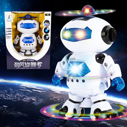 360 Rotating Children Electronic Walking Dancing Smart Space Robot Kids Cool Astronaut Model Music Light Toys Christmas Gift 2016 New hot