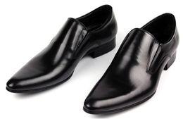 GRIMENTIN Italian luxury designer formal mens dress shoes genuine leather black basic flats for men wedding office size 37-45