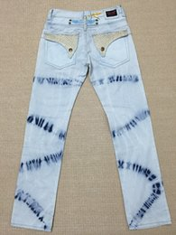 Wholesale new arrival hot mens designer jeans men robin jeans famous brand robin jeans denim with wings american flag jeans plus