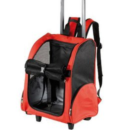 Wholesale J Baby pet bag pet double trolley luggage pets carry dog backpack teddy