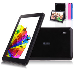 Wholesale Ship from USA iRULU Inch Tablet PC Quadcore Google Android Allwinner A33 Tablet GB Capacitive Tablets Dual Camera Bluetooth WIFI