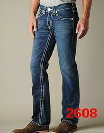 Wholesale Hot sale tr USA SIZE variety of styles true discount brand Jeans for mens robin jeans slim cotton Straight designer jeans