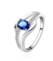 Wholesale 2016 most popular rings blue gemstone ring for women men European and American popular gift ring freeship