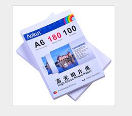 Impresoras de inyección de tinta gratis en Línea-Envío libre expreso de 100 hojas de papel de inyección de tinta de alta A6 180g brillante impermeable papel fotográfico Para una variedad de impresoras de inyección de tinta
