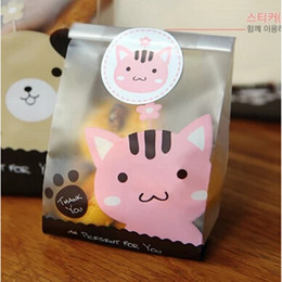 Wholesale Pink Blue Plastic Bags Cookie Candy Bags For Gift Bakery Food Packaging Disposable PP Bags for Food