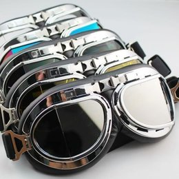 Wholesale Aviator Pilot Cruiser Motorcycle Scooter ATV Goggle Eyewear T08H Four Lens Color