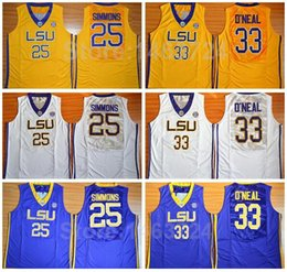 Wholesale LSU Tigers Basketball Jerseys Cheap College Ben Simmons Jersey Team Color Blue White Yellow Rev New Material Best Quality
