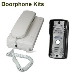 Wholesale Home Security Wire Connection Audio Door Bell Phone Kit House Door Entry Intercom System