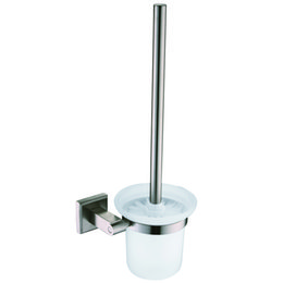 Wholesale Stainless Steel Nickel Brush Bathroom Toliet Brush Holder Glass Cup Wall Mounted