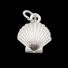 Online Wholesale Jewelry Accessories Alloy Shell Shape Charms With Size 14*17mm AAC044