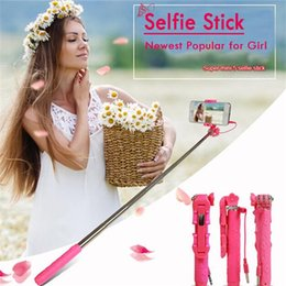 Wholesale NEW Choise Supreme Mini Wired Selfie Stick Set Secret Garden Flower Style Gift Beautiful Girl s Favorite Pocket Extending To cm Free DHL