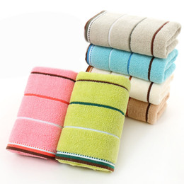 Striped Square Water Kitchen Bathroom Washing Absorbent Ultra-thin Fiber Face Hand Towel Drying Cloth Handkerchief Towels