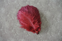 Wholesale 100 pcs 5-8inch burgundy ostrich feather for wedding centerpiece decor WEDDINGS party table supply decor