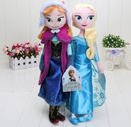 Wholesale 10PCS CM High quality The Movie Frozen Plush Princess Elsa and Anna Plush Dolls Great Toys For Children