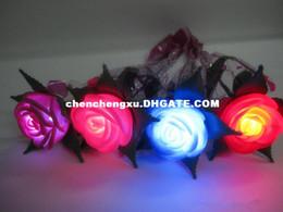 Creative Lightening Rose Flower shining rose magic rose wedding decorative led artificial flowers wholesale Light Up Toys 10pcs lot