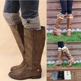 Leggings For Women Women Ladies Winter Leg Warmers Button Crochet Knit Boot Socks Toppers Cuffs Designer Belts womens leggings Leg Socks