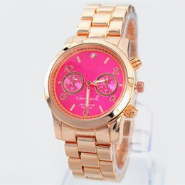 NEW Fashion luxury women watch pink dial blue dial steel brand wristwatch Quartz Girl Japan Movement Wristwatch Clock