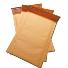 Descuento burbuja de papel kraft Envío al por mayor-libre al por mayor 15x18 + 4cm kraft bolsas de burbujas / sobres acolchados / sobre de papel / anuncio publicitario de burbuja bolsas 100pcs