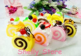 Wholesale Simulation Hokkaido cake colorful model D fridge magnets soft PU material for lover kids gift simulation food model photo prop