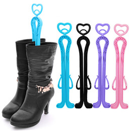 Wholesale Hot Sales Plastic Candy Color Long Boots Shoes Tree Shaper Supporter Shaft Holder Organizer Storage Hanger Cx14