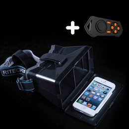 Wholesale RITECH Riem D VR Glasses Virtual Reality Headset D Game Video Private Theater for inch Cellphone Bluetooth Remote Control