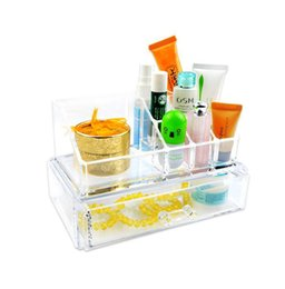 Wholesale Cosmetic Holder Large Drawer Jewelry Chest Makeup Acrylic Case Organizer Set EQC365