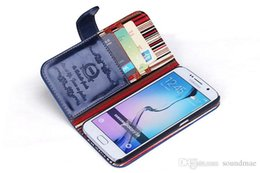 Wholesale New Arrival Straight Crazy Horse PC PU leather cover case with card slot stand cell phones cases for samsung galaxy S6