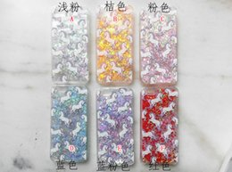 For Iphone 7 8 6 6S Plus 5 SE 5S Quicksand Liquid Case Unicorn Horse Phone Love Magical Dynamic Hard PC Cover Flow Bling Glitter Skin 15pcs
