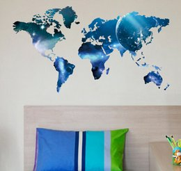 2015 fashion new design 99*55cm world map new planet waterproof removable environment living room metting room home Wall Sticker Decor