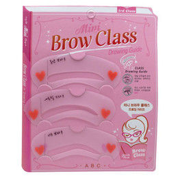 Wholesale Chinese Eyebrow stencils styles brow class reusable eyebrow drawing guide card makeup styling tools