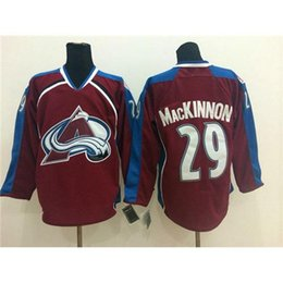 Wholesale Red Ice Hockey Jerseys Avalanche Nathan MacKinnon Hockey Sportswear New Arrival Top Quality Hockey Apparel Mens Outdoor Uniform for Sale