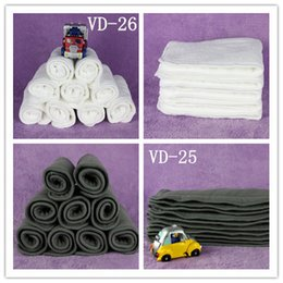Wholesale 10 Units layers washable Natural Bamboo Charcoal diaper baby soft and breathable cloth diaper inserts superior quality Voberry