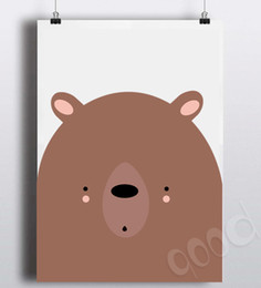 Wholesale Cartoon Bear Canvas Art Print Poster Wall Pictures for Home Decoration Wall decor FA242