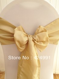 Wholesale Hot Sale Light Antique Gold Chameleon Chair Sash For Wedding Event amp Party Decoration