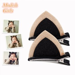 Rabbit Ear Design Girls Children Black and Yellow Hair Accessories Cute Baby Fashion Animals Design Rabbits Ears Hair Clip Free Shipping