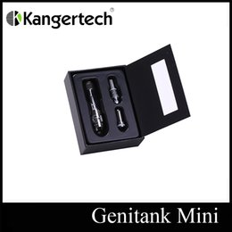 Wholesale KangerTech Genitank Mini Atomizer Kanger Dual Coil Clearomizer ml Pyrex Glass Tank New Air flow Control BCC Technology DHL