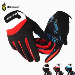 Wholesale WOLFBIKE Winter Outdoor Full finger Gloves Cycling Road Mountain Bike Bicycle MTB DH Downhill Off Road Glove