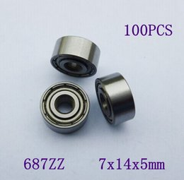 Wholesale 100pcs ZZ miniature ball bearing Z shielded deep groove ball bearings x14x5 mm