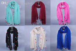 Wholesale-women fashion printe solid color tassels plain 100%viscose plain shawls long wrap hijab muslim scarves scarf 10pcs lot