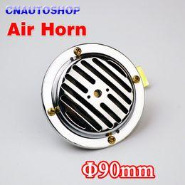 Wholesale 12V Air Horn Diameter mm Electric Aluminum Coil Chrome Color Loud for Car Motorcycle Truck Bike order lt no track