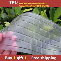 Wholesale TPU laptop Keyboard cover skin protector for asus U35 U43 U45 U82 N82 K42 A40 A42 A43 X42N X42E K42J buy one gift one