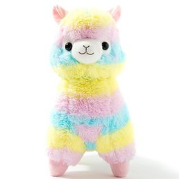 Wholesale 13 quot cm Rainbow Alpaca Plush Sheep Toy Japanese Soft Plush Alpacasso Baby Plush Stuffed Animals Alpaca Gifts hot sale