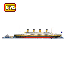 Wholesale LOZ Architecture RMS Titanic Ship D Building Blocks Toy Titanic Boat D Model Educational Gift Toy for Children