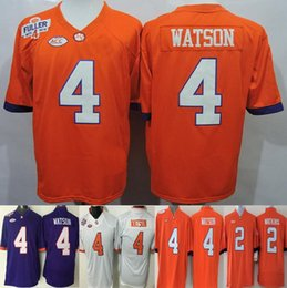 Factory Outlet- 2016 New Style cheap Clemson Tigers 4 Deshaun Watson jersey 2 Sammy Watkins men NCAA College Football Jerseys