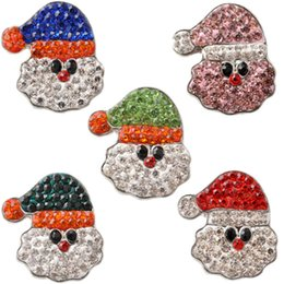 Wholesale D02610 Hot Snap buttons Jewelry fit Bracelet Bangles Antique Fashion DIY Charms Crystal Christmas Bell Design noosa chunk