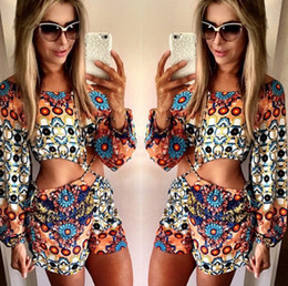 Wholesale 2015 sexy Women Cute Dress Conjoined divided skirts printing seaside leisure clothing for women NVQ33