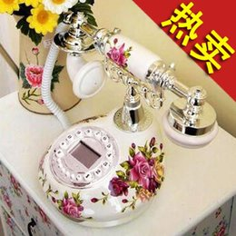 Wholesale ceramic antique phone fashion of Europe type style restoring ancient ways of rural elegant telephone